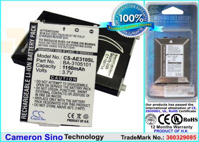 Аккумулятор CS-AE310SL для Acer E300 3,7V 1150Ah Li-ion