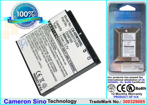 Аккумулятор CS-HDM100SL для SoftBank Touch Diamond 3,7V 900Ah Li-ion