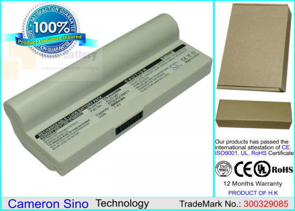 Аккумулятор CS-AUA9NB для Asus Eee PC 1000  7,4V 6600mAh Li-ion