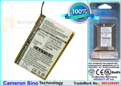 Аккумулятор CS-SA720SL для Sony NWZ-820 3,7V 750Ah Li-Polymer