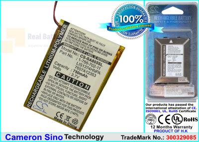 Аккумулятор CS-SA805SL для Sony NW-A805 3,7V 750Ah Li-Polymer