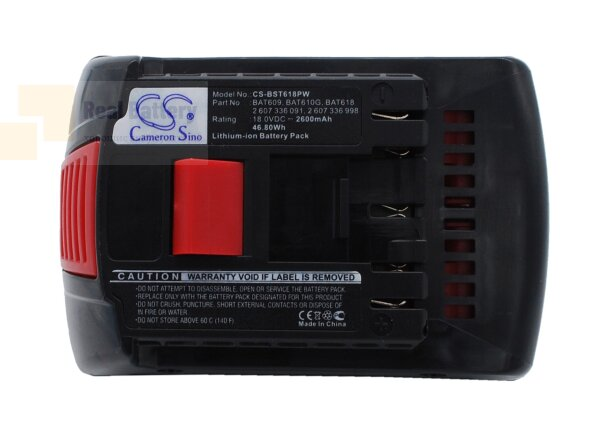 Аккумулятор для Bosch 17618 18V 2,6Ah Li-ion CS-BST618PW