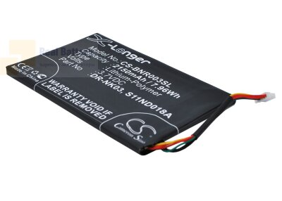 Аккумулятор CS-BNR003SL для Barnes & Noble BNRV300 3,7V 2150Ah Li-Polymer