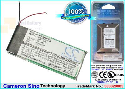 Аккумулятор CS-SAE400SL для Sony NW-E403 3,7V 330Ah Li-Polymer