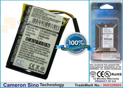 Аккумулятор CS-MG3218SL для Typhoon MyGuide m imove 3218 3,7V 1050Ah Li-Polymer