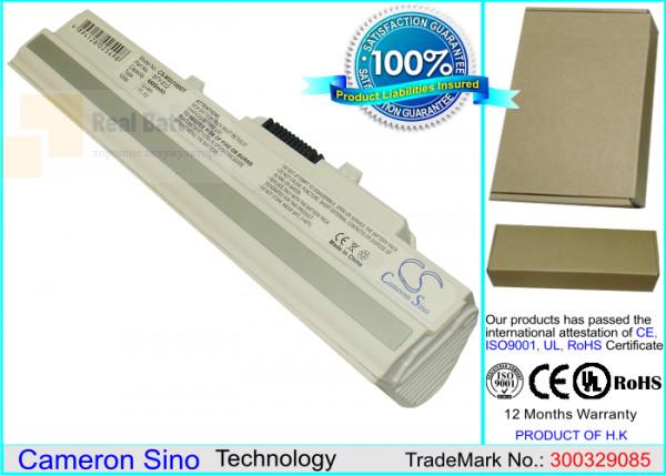 Аккумулятор CS-MSU100DT для Ahtec Netbook LUG N011 11,1V 6600mAh Li-ion