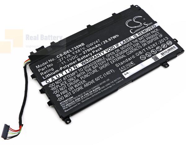 Аккумулятор CS-DEL735NB для DELL Latitude 13 7000  11,1V 2700mAh Li-Polymer