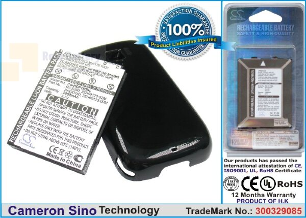 Аккумулятор CS-HDP180BL для T-Mobile Touch Pro 2 3,7V 2800Ah Li-ion