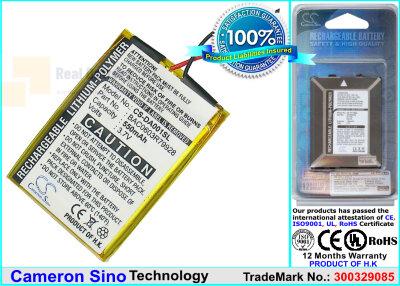 Аккумулятор CS-DA001SL для Creative DVP-FL0006 3,7V 550Ah Li-Polymer