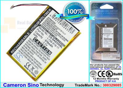 Аккумулятор CS-SAE430SL для Sony NW-E435 3,7V 570Ah Li-Polymer