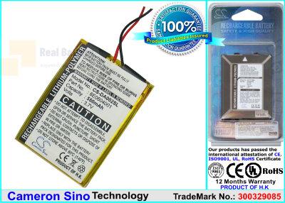 Аккумулятор CS-DA002SL для Creative DVP-FL0007 3,7V 550Ah Li-Polymer