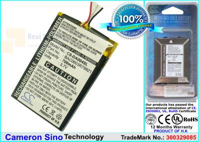 Аккумулятор CS-DA004SL для Creative Zen Wav 3,7V 700Ah Li-Polymer