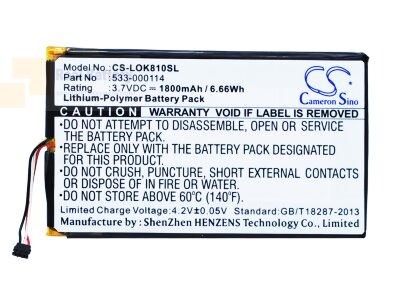 Аккумулятор CS-LOK810SL для Logitech IIIuminated Keyboard K810 3,7V 1800Ah Li-Polymer