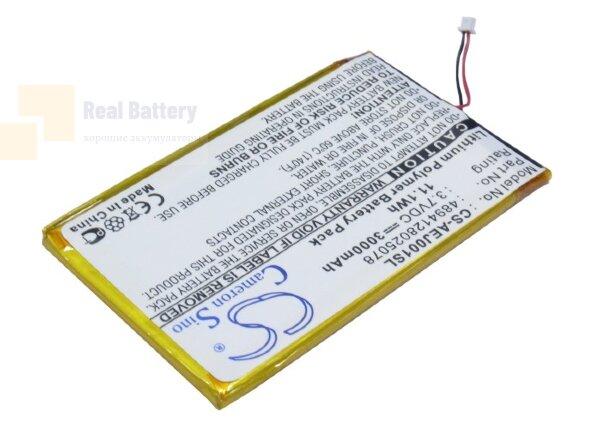 Аккумулятор CS-AEJ001SL для Ectaco jetBook e-Book Reader Burgundy 3,7V 3000Ah Li-Polymer
