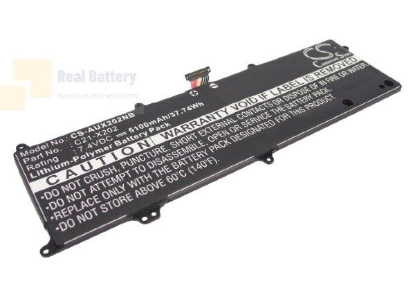 Аккумулятор CS-AUX202NB для Asus EEE PC F201  7,4V 5100mAh Li-Polymer