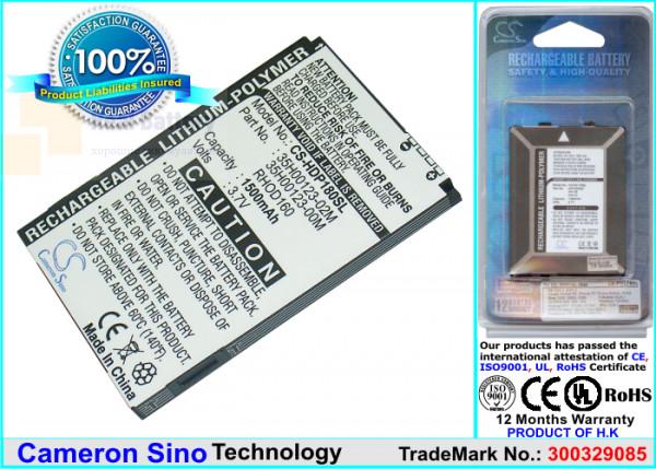 Аккумулятор CS-HDP180SL для Verizon Imagio 3,7V 1200Ah Li-Polymer