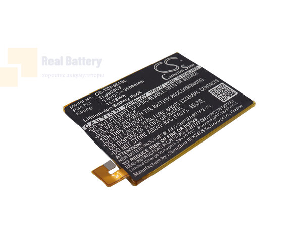 Аккумулятор CS-TCP561SL для TCL P561U 3,8V 3100Ah Li-Polymer