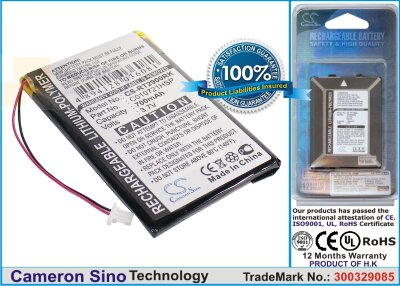 Аккумулятор CS-RT2900RK для Rapoo 2900 Touch 3,7V 700Ah Li-Polymer