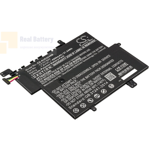Аккумулятор CS-AUE203NB для Asus E203  7,6V 4900mAh Li-Polymer