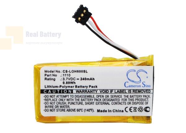Аккумулятор CS-LOH600SL для Logitech H600 3,7V 240Ah Li-Polymer