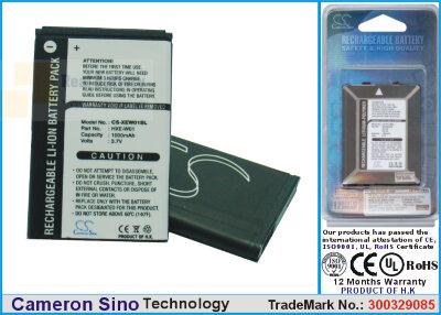 Аккумулятор CS-XEW01SL для Wintec G-Trender 3,7V 1000Ah Li-ion