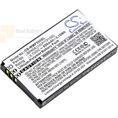 Аккумулятор CS-WMP300SL для WM Systems WMP 300 3,7V 850Ah Li-Polymer