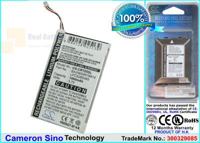 Аккумулятор CS-CRT05SL для Creative DVP-HD0003 3,7V 1400Ah Li-Polymer