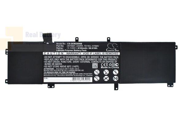 Аккумулятор CS-DEM280NB для DELL Precision M2800  11,1V 8100mAh Li-Polymer