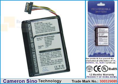 Аккумулятор CS-MIOP350SL для Yakumo Delta X 5BT 3,7V 1250Ah Li-ion