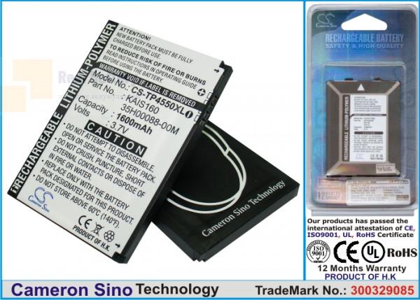 Аккумулятор CS-TP4550XL для T-Mobile MDA Vario III 3,7V 1300Ah Li-Polymer