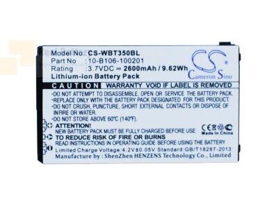Аккумулятор CS-WBT350BL для Widefly BT350 3,7V 2600Ah Li-ion