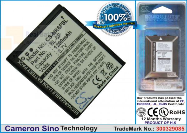 Аккумулятор CS-NK6FSL для VIBO A688 3,7V 1200Ah Li-ion