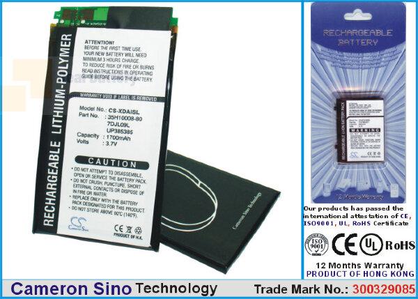 Аккумулятор CS-XDAISL для T-Mobile MDA i 3,7V 1700Ah Li-Polymer