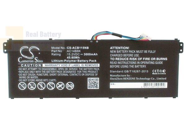 Аккумулятор CS-ACB115NB для Acer Aspire E3-111  15,2V 3000mAh Li-Polymer