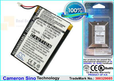 Аккумулятор CS-PRD500SL для Sony Portable Reader PRS-500 3,7V 750Ah Li-Polymer