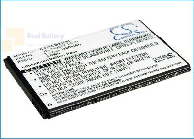 Аккумулятор CS-ACM310SL для Acer Allegro 3,7V 1300Ah Li-ion