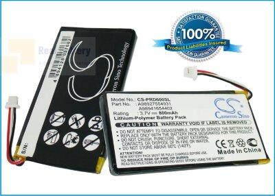 Аккумулятор CS-PRD600SL для Sony PRS-600 3,7V 800Ah Li-Polymer