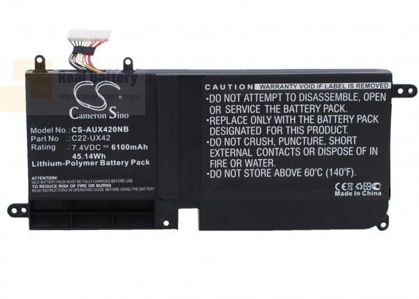 Аккумулятор CS-AUX420NB для Asus UX42E3317VS-SL  7,4V 6100mAh Li-Polymer
