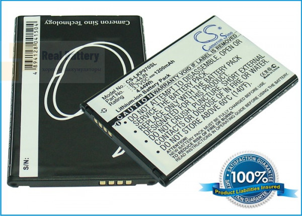 Аккумулятор CS-LKP970SL для T-Mobile myTouch 3,7V 1200Ah Li-ion