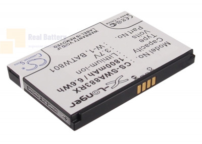Аккумулятор CS-SWA883RX для Virgin Mobile Overdrive Pro 3G 3,7V 1800Ah Li-ion