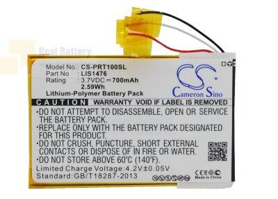 Аккумулятор CS-PRT100SL для Sony PRS-T1 3,7V 700Ah Li-Polymer