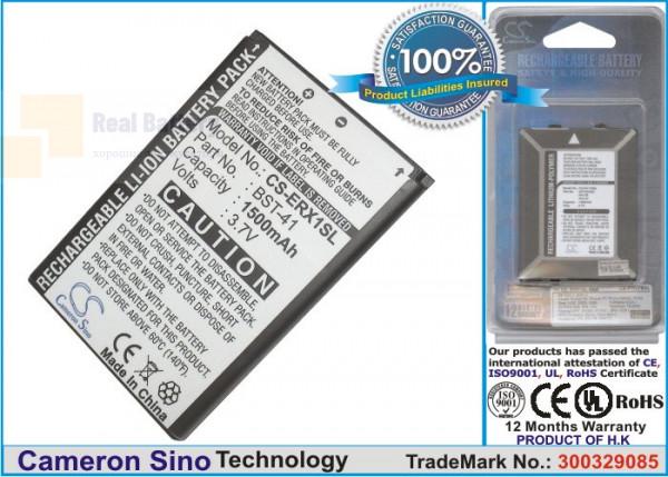 Аккумулятор CS-ERX1SL для Sony Ericsson A8 3,7V 1500Ah Li-ion