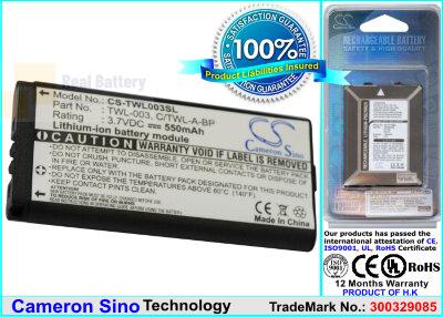Аккумулятор CS-TWL003SL для Nintendo DSi 3,7V 550Ah Li-Polymer