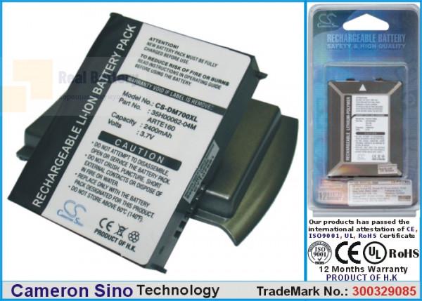 Аккумулятор CS-DP800XL для T-Mobile MDA Compact III 3,7V 2400Ah Li-ion