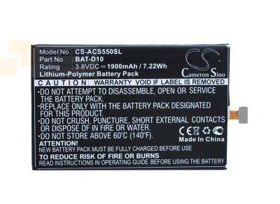 Аккумулятор CS-ACS550SL для Acer Liquid Jade S 3,8V 1900Ah Li-Polymer