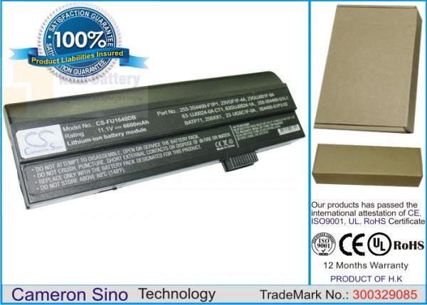 Аккумулятор CS-FU1640DB для Fujitsu-Siemens Amilo A1640  11,1V 6600mAh Li-ion